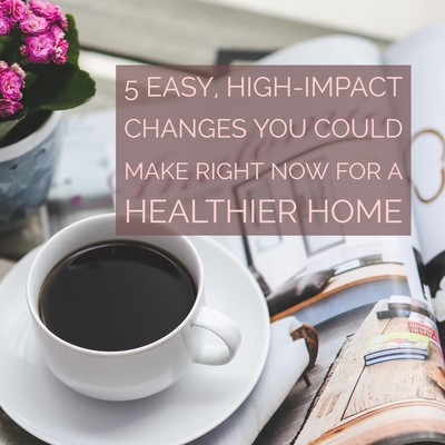 5 Easy, high-impact changes you can make right now for a healthier home - Katie Boyle blog - Boyle's Naturals - Boyle Public Health - values-led company - New England small business